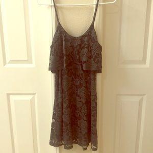 EXPRESS Grey Lace Dress